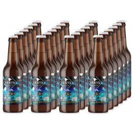 GENYS Baltas melas. Dėžė 24 buteliai