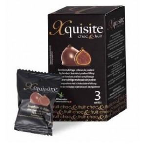XQUISITE Figos šokolade, įdarytos brendžio arba lazdyno riešutų ir šokolado kremu