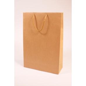 Popierinis dovanų maišelis natūralaus krafto 2 buteliams