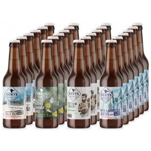 GENYS Degustacinis alaus rinkinys. Dėžė 24 buteliai