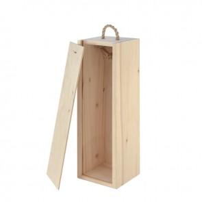 Medinė dėžutė vynui, 1 buteliui