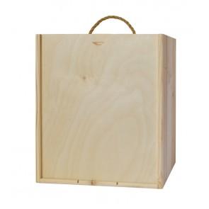 Natūralios medienos dėžutė 6 buteliams