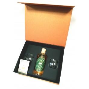 SIBONA Grappa Riserva affinata in botti da Madeira dovanų rinkinys su taurėmis