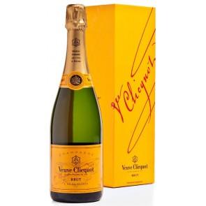 Champagne VEUVE CLICQUOT Brut Yellow label šampanas dėžutėje