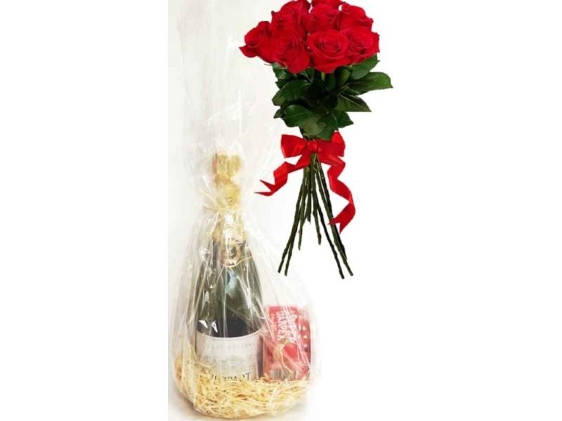 Rinkinys Mamai su rožių puokšte